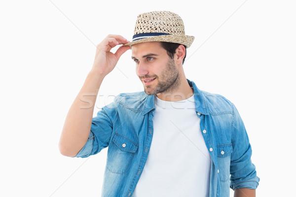 Knap shirt glimlachend mannelijke Stockfoto © wavebreak_media