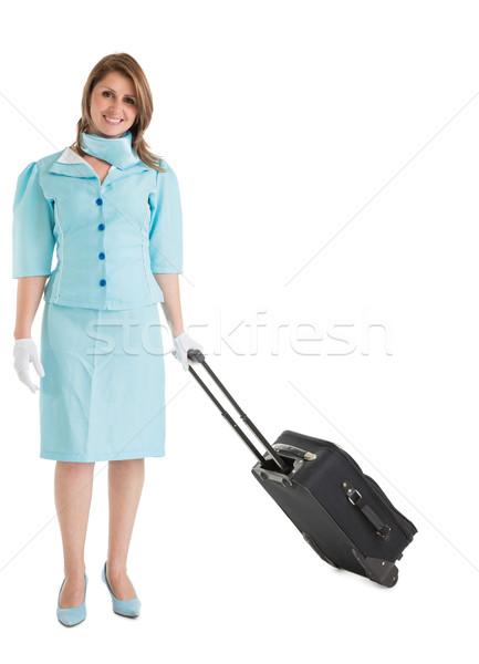 Retrato azul uniforme bolsa blanco Foto stock © wavebreak_media