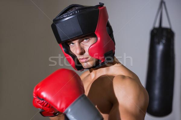 Male boxer in defensive stance Stock photo © wavebreak_media