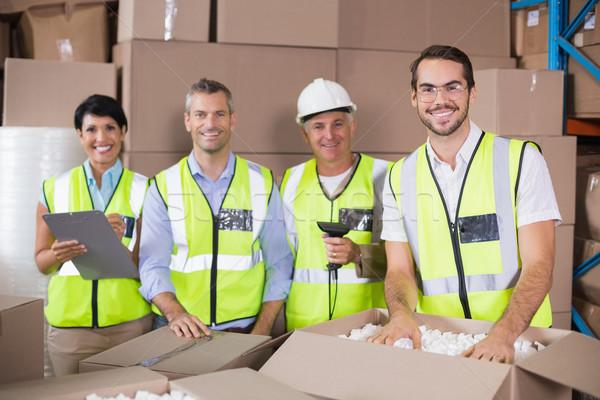 Magazijn werknemers Geel groot business Stockfoto © wavebreak_media