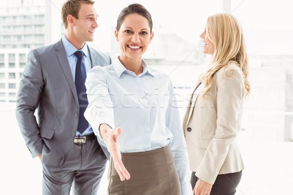Femme d'affaires collègues bureau portrait derrière Photo stock © wavebreak_media