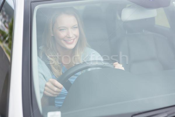 Mulher jovem condução carro mulher feliz transporte Foto stock © wavebreak_media