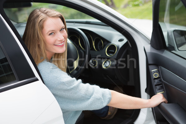 Young woman in the drivers seat  Stock photo © wavebreak_media