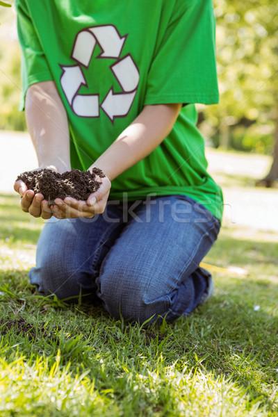 Environmental activist about to plant tree Stock photo © wavebreak_media