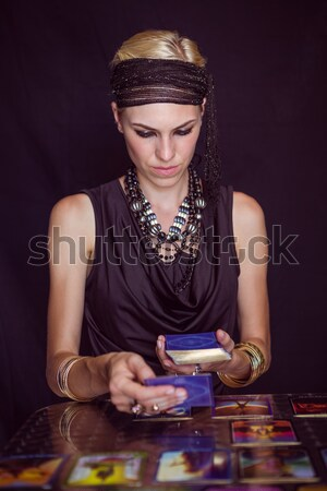 Fortune teller forecasting the future with pendulum Stock photo © wavebreak_media
