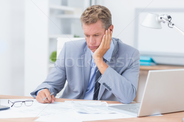 Businessman being depressed by working Stock photo © wavebreak_media