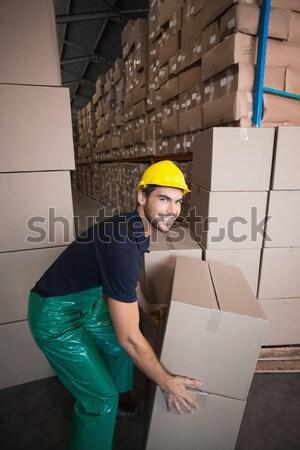 портрет склад работник буфер обмена человека промышленности Сток-фото © wavebreak_media