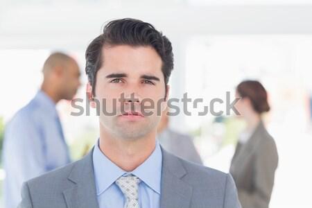 Concentré femme d'affaires femme gens d'affaires Homme Photo stock © wavebreak_media