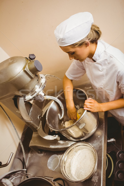 Baker using large mixer to mix dough Stock photo © wavebreak_media