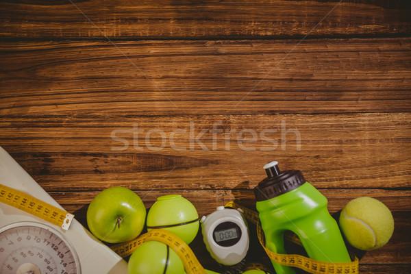 Mesa de madera manzana salud mesa tenis Foto stock © wavebreak_media