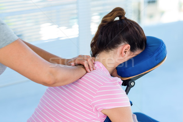 Donna collo massaggio medici ufficio mani Foto d'archivio © wavebreak_media