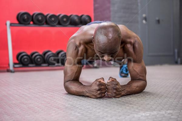 Genç vücut geliştirmeci crossfit spor salonu adam sağlık Stok fotoğraf © wavebreak_media