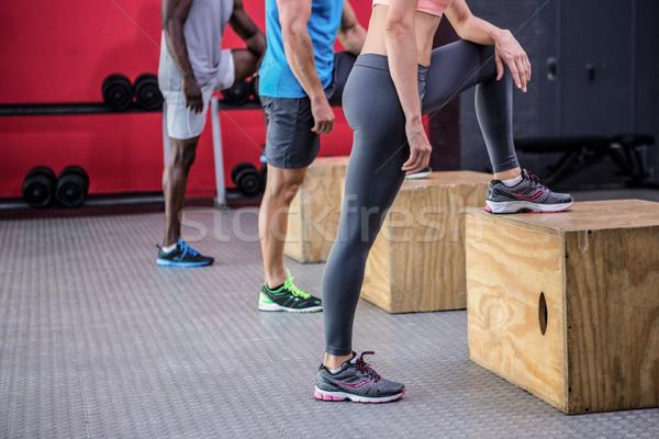 Drei jungen Fitnessstudio Mann Gesundheit Stock foto © wavebreak_media