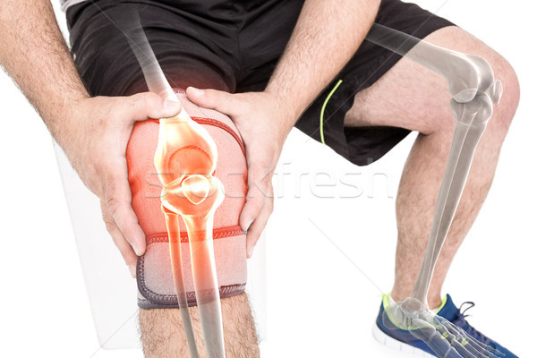 Man pijnlijk knie witte digitaal Stockfoto © wavebreak_media