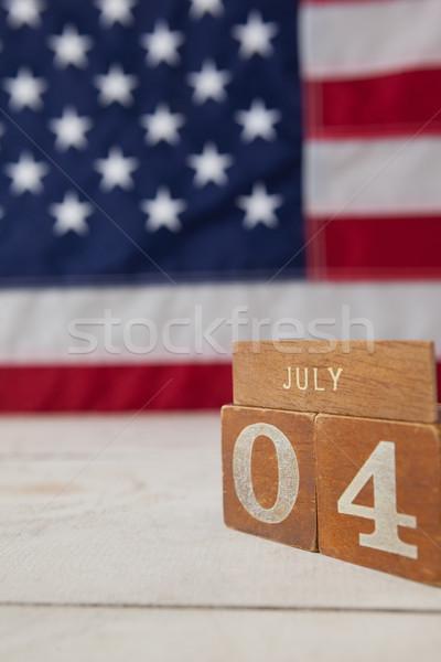 Data blocchi bandiera americana primo piano sfondo bandiera Foto d'archivio © wavebreak_media