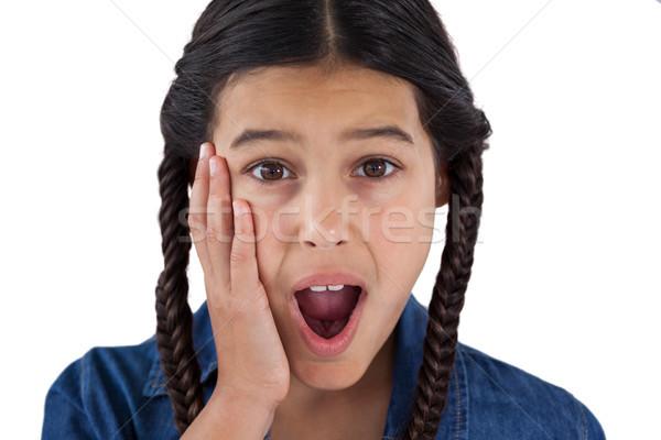 Cute ragazza sorpreso bianco ritratto baby Foto d'archivio © wavebreak_media