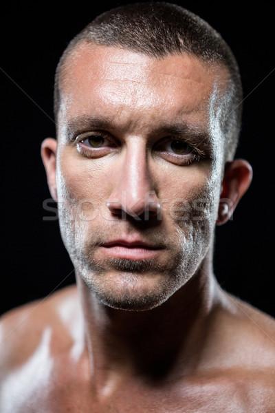 Portret poważny półnagi sportowiec stałego Zdjęcia stock © wavebreak_media