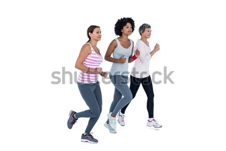 Női barátok jogging együtt fehér nő Stock fotó © wavebreak_media