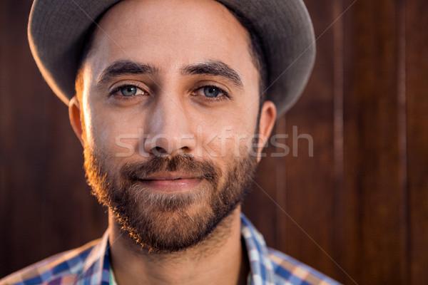 портрет Creative бизнесмен служба Постоянный стены Сток-фото © wavebreak_media
