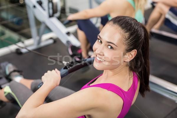 соответствовать женщину рисунок машина спортзал счастливым Сток-фото © wavebreak_media