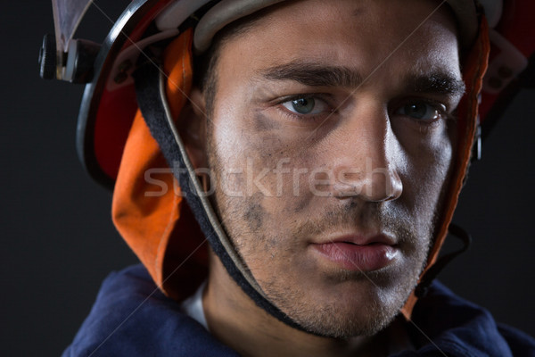 Fireman looking at camera Stock photo © wavebreak_media