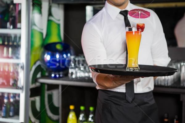 Barmen kokteyl bar restoran Stok fotoğraf © wavebreak_media
