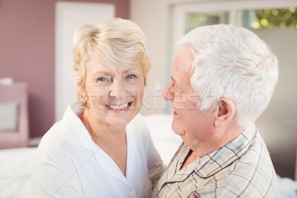Cheerful senior woman with husband Stock photo © wavebreak_media