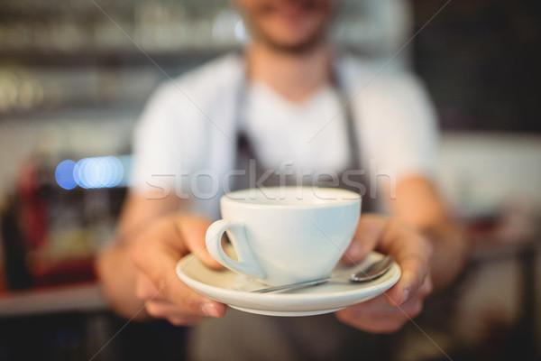 Barista koffie cafetaria mannelijke Stockfoto © wavebreak_media
