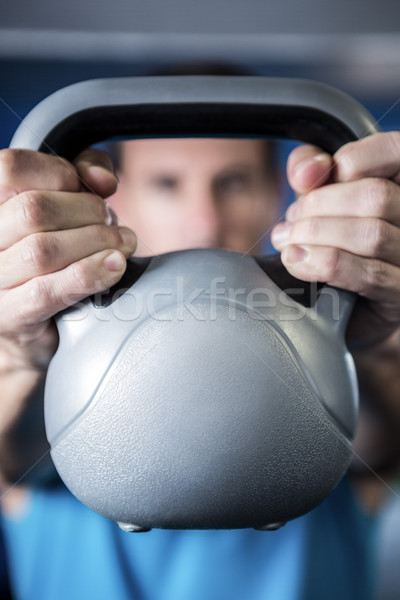 человека гири спортзал стороны фитнес Сток-фото © wavebreak_media