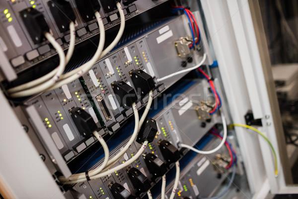 Rack serwera pokój szkła sieci Zdjęcia stock © wavebreak_media