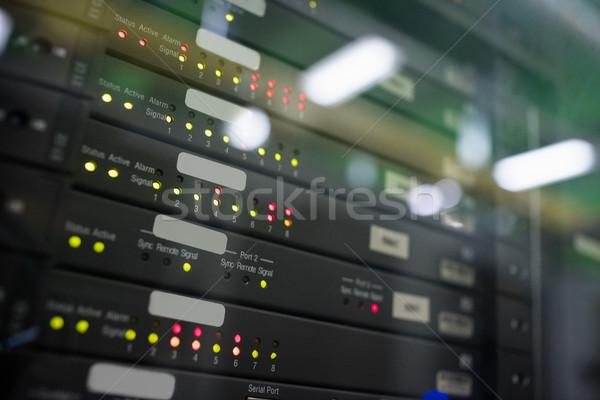 Tornyok szerver szoba közelkép hálózat fekete Stock fotó © wavebreak_media
