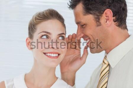 Doktor kulak kadın mutlu sağlık Stok fotoğraf © wavebreak_media