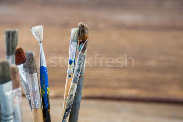 различный грязные кисти образование обучения Сток-фото © wavebreak_media