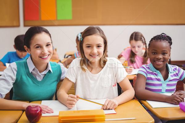 Teacher with pupils during class Stock photo © wavebreak_media