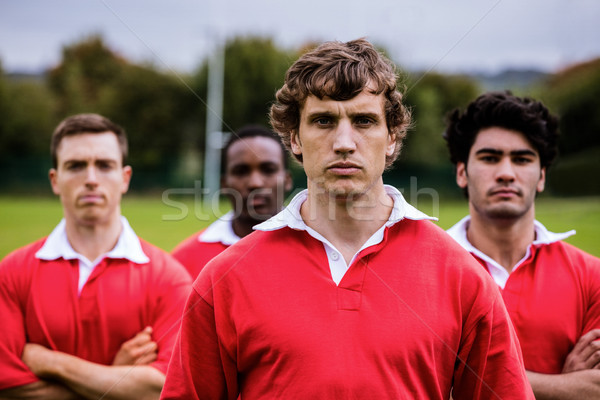 Tough rugby players ready to play Stock photo © wavebreak_media