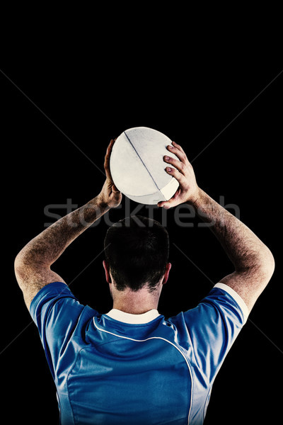 Image rugby joueur ballon de rugby noir Photo stock © wavebreak_media