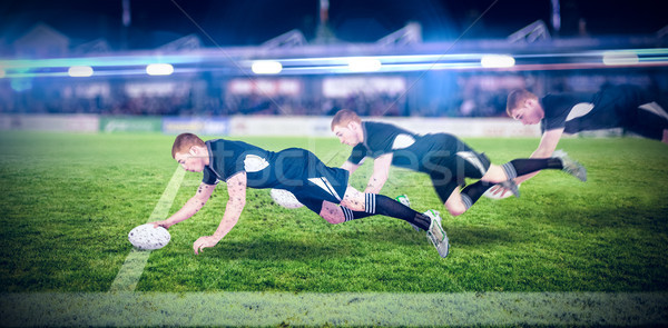 Imagem rugby jogador esportes verde Foto stock © wavebreak_media