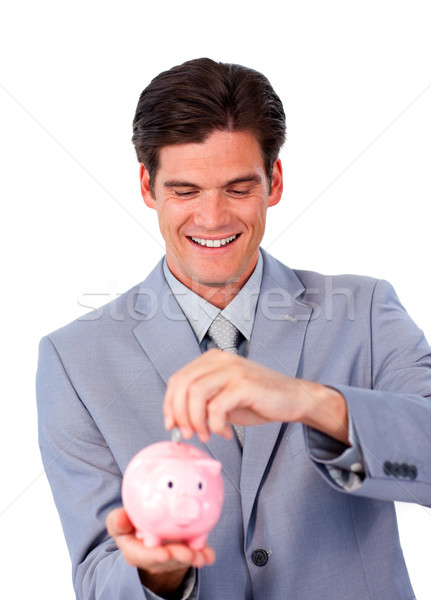 Empresário dinheiro branco Foto stock © wavebreak_media