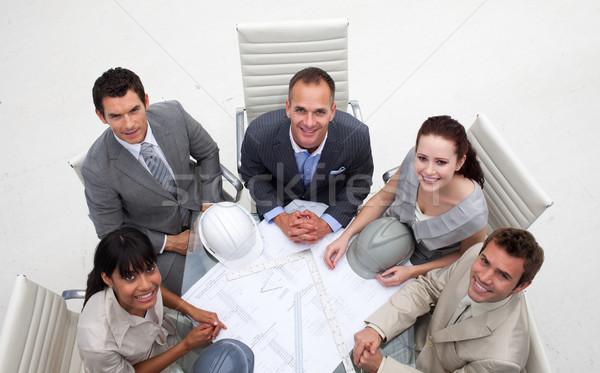 Magasról fotózva dolgozik tervek iroda üzlet ház Stock fotó © wavebreak_media