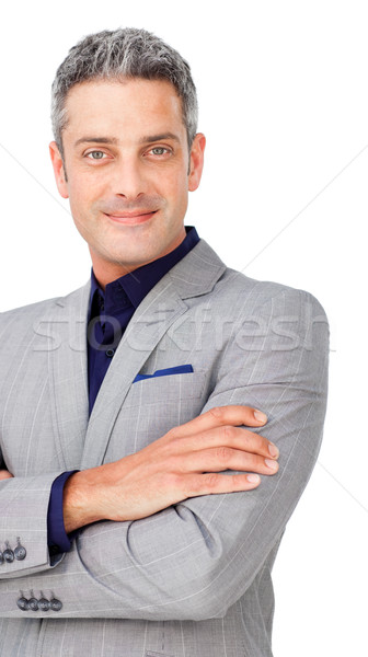 Chaming businessman with folded arms  Stock photo © wavebreak_media