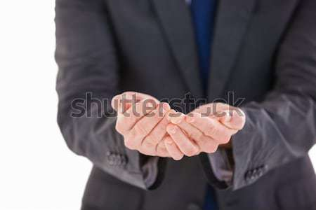 Primer plano dos empresarios acuerdo reunión Foto stock © wavebreak_media