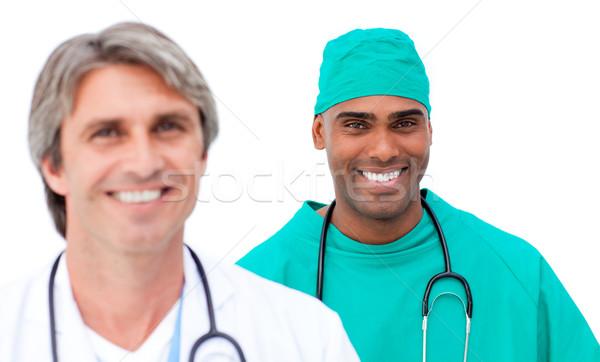 Charismatic male doctors standing in a line Stock photo © wavebreak_media