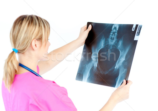 Female surgeon looking at a x-ray Stock photo © wavebreak_media
