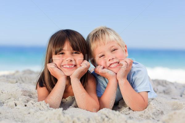 Children at the beach Stock photo © wavebreak_media