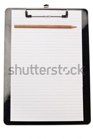 Schone nota witte boek pen ontwerp Stockfoto © wavebreak_media