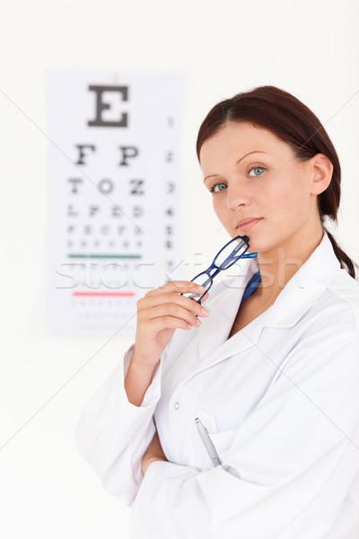 Feminino oculista escritório olhos trabalhar Foto stock © wavebreak_media