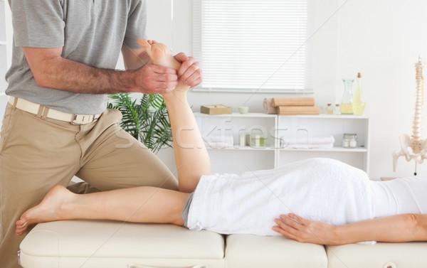Masażysta klientela nogi strony sportu ciało Zdjęcia stock © wavebreak_media
