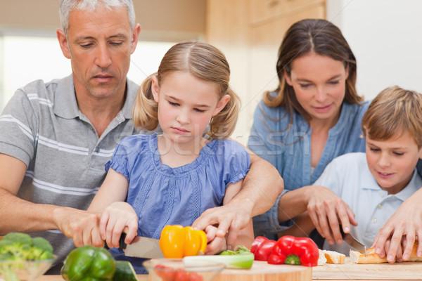 семьи приготовления вместе домой здоровья кухне Сток-фото © wavebreak_media