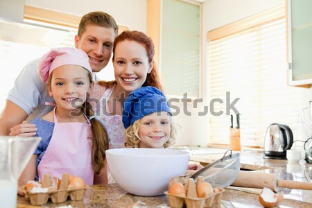 Happy family having a great time baking together Stock photo © wavebreak_media