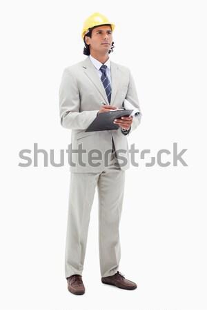 Architect witte papier bouw achtergrond Stockfoto © wavebreak_media